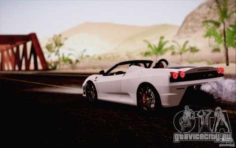 Ferrari F430 Scuderia Spider 16M для GTA San Andreas вид изнутри