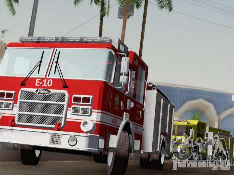 Pierce Saber LAFD Engine 10 для GTA San Andreas салон