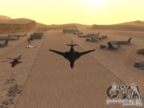 Ту 160 Black Jack для GTA San Andreas вид сзади слева