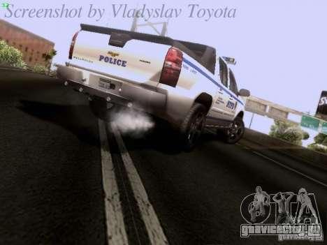 Chevrolet Avalanche 2007 для GTA San Andreas вид сзади слева