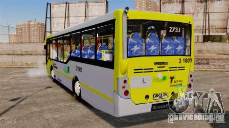 Busscar Urbanuss Pluss 2009 Le VIP Itaim Paulist для GTA 4 вид сзади слева