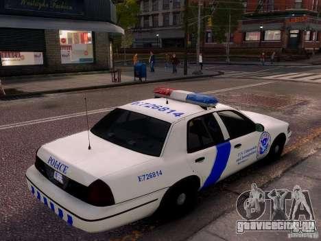 Ford Crown Victoria Homeland Security для GTA 4 вид сбоку