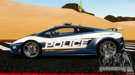 Lamborghini Gallardo LP570-4 Superleggera Police для GTA 4 вид слева