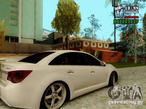 Chevrolet Cruze для GTA San Andreas вид сзади