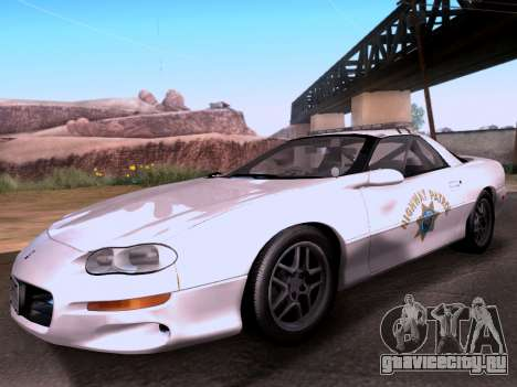 Chevrolet Camaro 2002 California Highway Patrol для GTA San Andreas