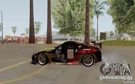 Nissan 350Z для GTA San Andreas вид сбоку
