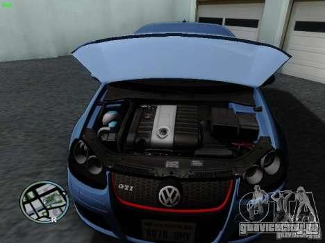 Volkswagen Golf V R32 Black edition для GTA San Andreas вид сзади
