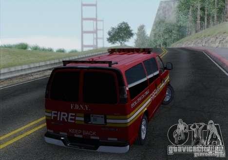 Chevrolet Express Special Operations Command для GTA San Andreas вид справа