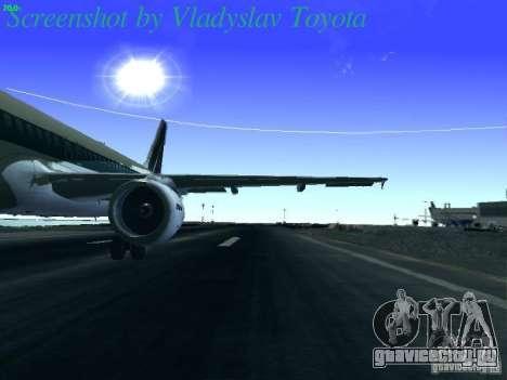 Airbus A320-214 Alitalia v.1.0 для GTA San Andreas вид изнутри