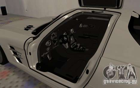 Mercedes-Benz SLS AMG 2010 для GTA San Andreas вид сбоку