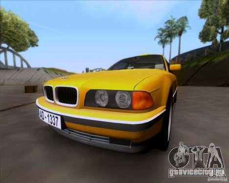 BMW 730i E38 1996 Taxi для GTA San Andreas вид слева