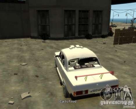 ГАЗ 3102 для GTA 4 вид сзади слева