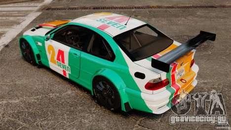 BMW M3 GTR MW 2012 для GTA 4 вид сзади слева