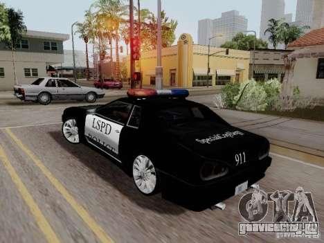 Elegy Police LS для GTA San Andreas вид слева
