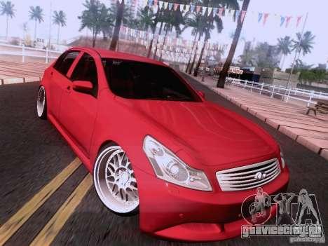 Infiniti G37 Sedan для GTA San Andreas колёса