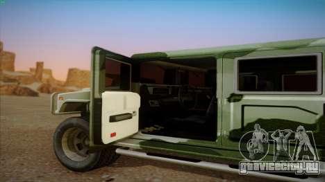 HD Patriot для GTA San Andreas вид сзади