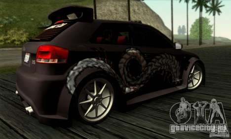 Audi A3 Tunable для GTA San Andreas вид сверху