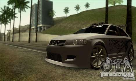 Audi A3 Tunable для GTA San Andreas вид снизу