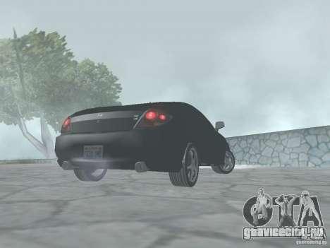 Hyundai Tiburon GT для GTA San Andreas вид сзади слева