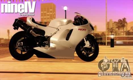 Ducati Desmosedici RR 2012 для GTA San Andreas вид сзади слева