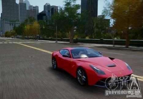 Ferrari F12 Berlinetta 2013 для GTA 4 вид справа