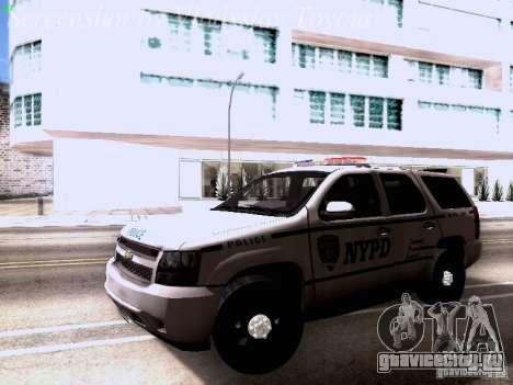 Chevrolet Tahoe 2007 NYPD для GTA San Andreas вид слева