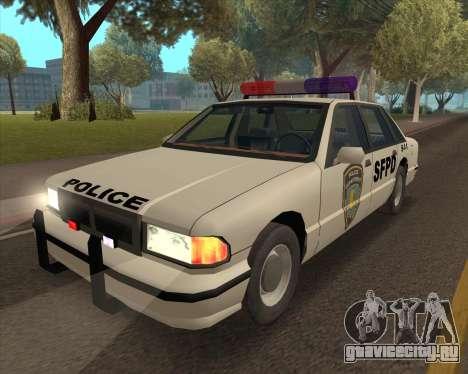 Updated SFPD для GTA San Andreas вид сзади слева