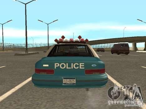 HD Police from GTA 3 для GTA San Andreas вид изнутри