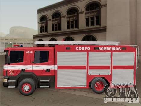 Scania 94D-260 Corpo Bombeiros SP для GTA San Andreas вид снизу