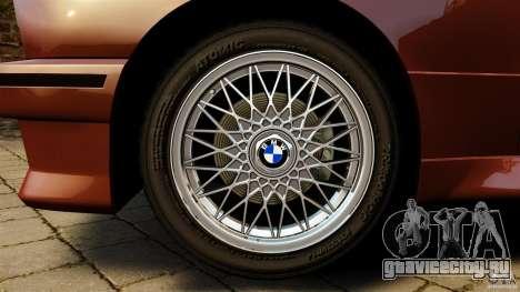 BMW M3 E30 Stock 1991 для GTA 4 вид сзади