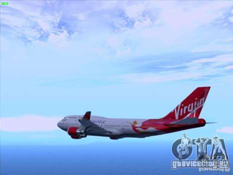 Boeing 747-4Q8 Lady Penelope для GTA San Andreas вид слева