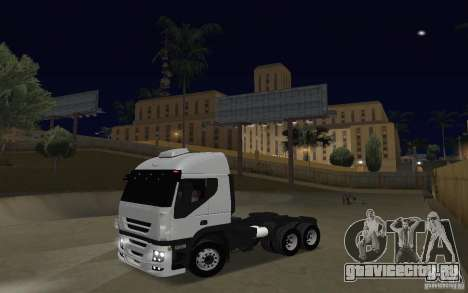 Iveco Stralis Double Trailers для GTA San Andreas вид слева