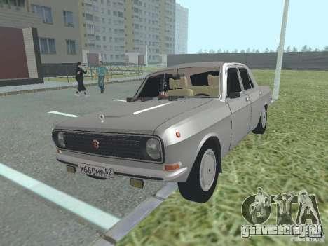 ГАЗ 24-10 Волга для GTA San Andreas вид изнутри