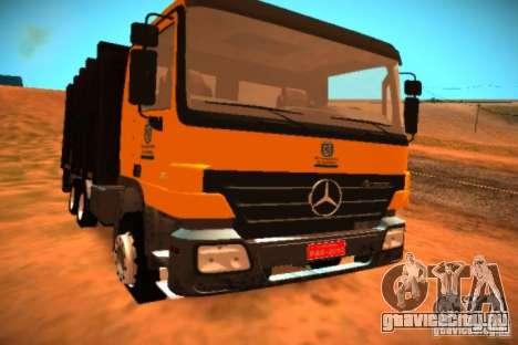 Mercedes Benz Actros Basura IM Santiago для GTA San Andreas вид слева