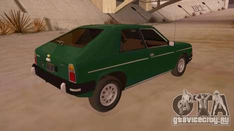 Chevrolet Chevette 1976 для GTA San Andreas вид справа