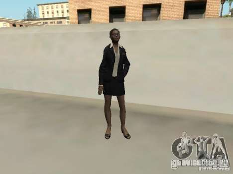 Скин девушки F.B.I для GTA San Andreas четвёртый скриншот