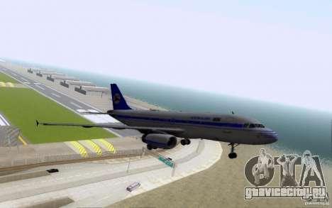 Airbus A-319 Azerbaijan Airlines для GTA San Andreas вид сверху