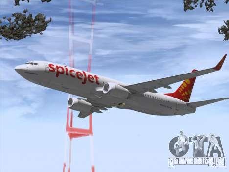 Boeing 737-8F2 Spicejet для GTA San Andreas колёса