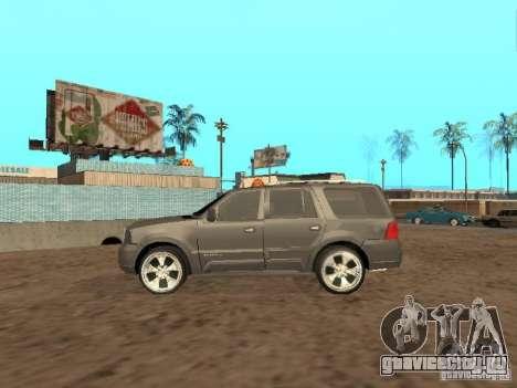 Lincoln Navigator 2004 для GTA San Andreas вид сзади