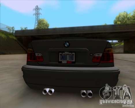 BMW 3-er E46 Dope для GTA San Andreas вид сзади