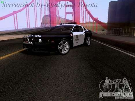 Ford Mustang GT 2011 Police Enforcement для GTA San Andreas вид сзади слева