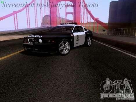 Ford Mustang GT 2011 Police Enforcement для GTA San Andreas вид сзади слева