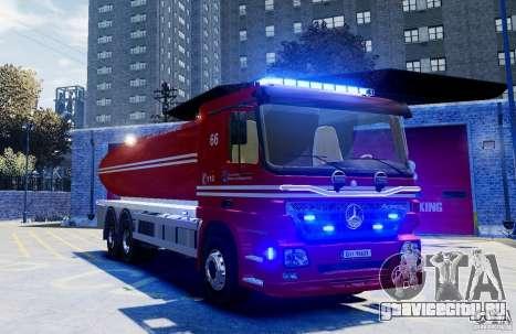 Mercedes-Benz Vanntankbil / Water Tanker для GTA 4 вид справа