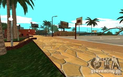 Новые текстуры баскетбольной площадки для GTA San Andreas