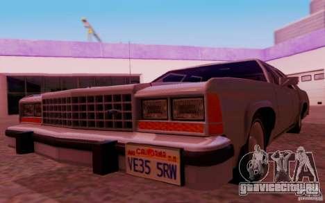 Ford Crown  Victoria LTD 1985 для GTA San Andreas вид изнутри