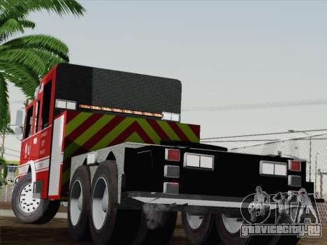 Pierce Arrow XT LAFD Tiller Ladder Truck 10 для GTA San Andreas вид сзади слева