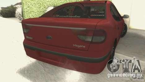 Renault Megane 2000 для GTA San Andreas вид слева