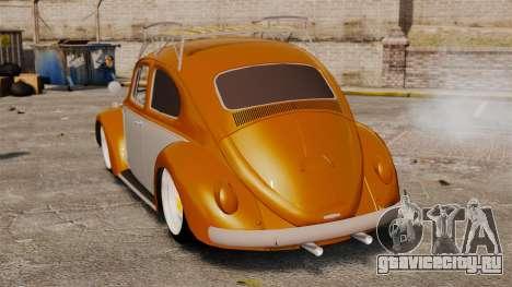 Volkswagen Fusca Edit для GTA 4 вид сзади слева
