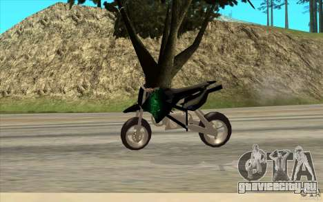 Black Rockstar Moto Cross для GTA San Andreas вид сзади слева