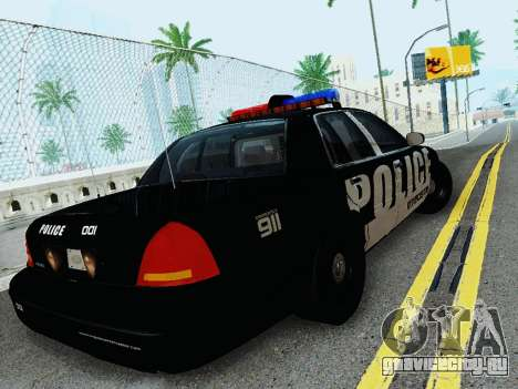 Ford Crown Victoria Police Interceptor 2011 для GTA San Andreas вид справа